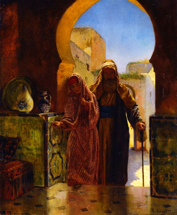 Rudolf Ernst, An Helping Hand, date unknown, Oil on panel, 46 x 37,5 cm, Private Collection