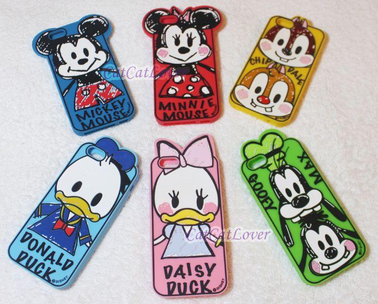 Matte graffiti Disney Mickey family 3D rasied soft rubber case cover iPhone 6