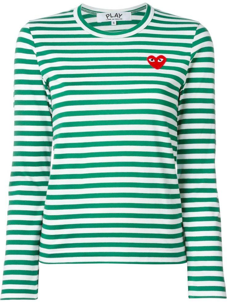 Comme des garcon play trøje i grøn str XS. kan købes i