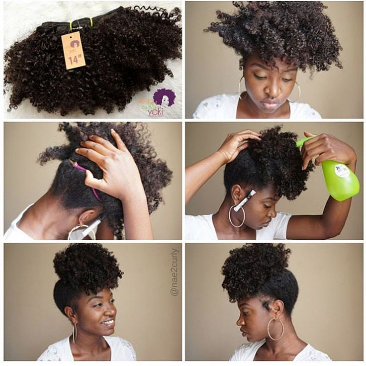 """""""This is a look I did with @KinkyCurlyYaki Afro Kinky Curly Clip-ins 14in #rp  I started off on an old twist out -Placed 3 clip-ins (2-2 combs and 1- 1…"""""""
