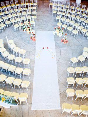 Round seating.