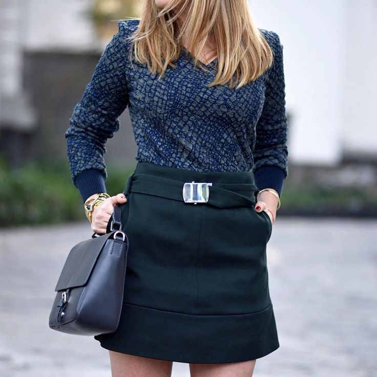 """How to pull off a high waisted skirt? Find out more on today's new post at cassandradelavega.com #StylistWord 