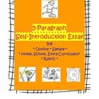 Helps teachers get acquainted with students, introduces the 5-paragraph essay structure, and if used at the start of the year it provides an early ...