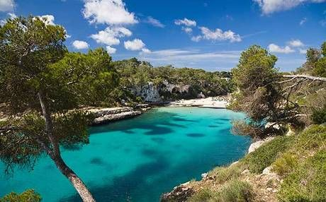 Majorca's Cala Llombards cove is a long strip of white sand along the southeast coast.