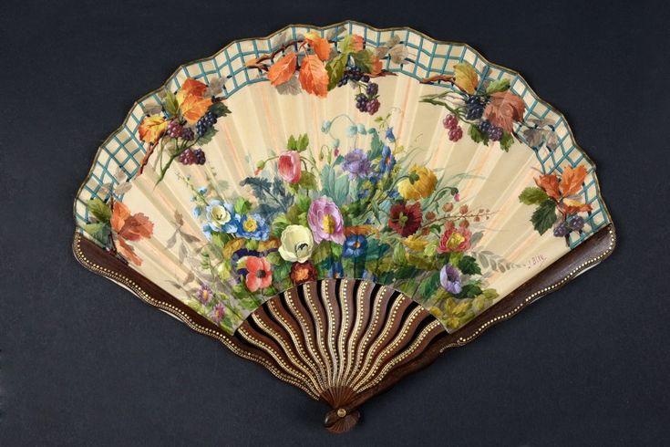 1910-1920 J. Blin Renoncules fan for Duvelleroy