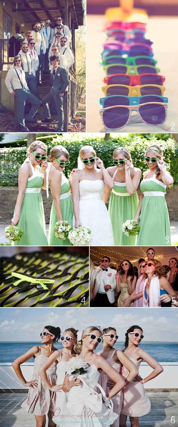 Idée des lunettes de soleil colorées