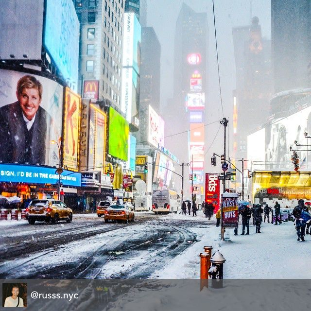 Frosty Times Square