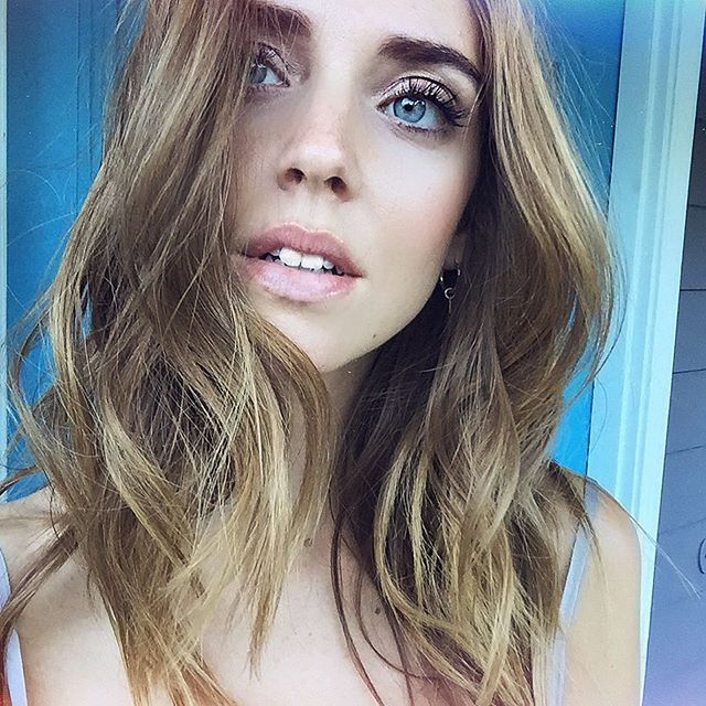 Beautiful natural makeup by @meghsicles for today's photos More on my Snapchat profile @chiaraferragni #TheBlondeSaladGoesToHollywood