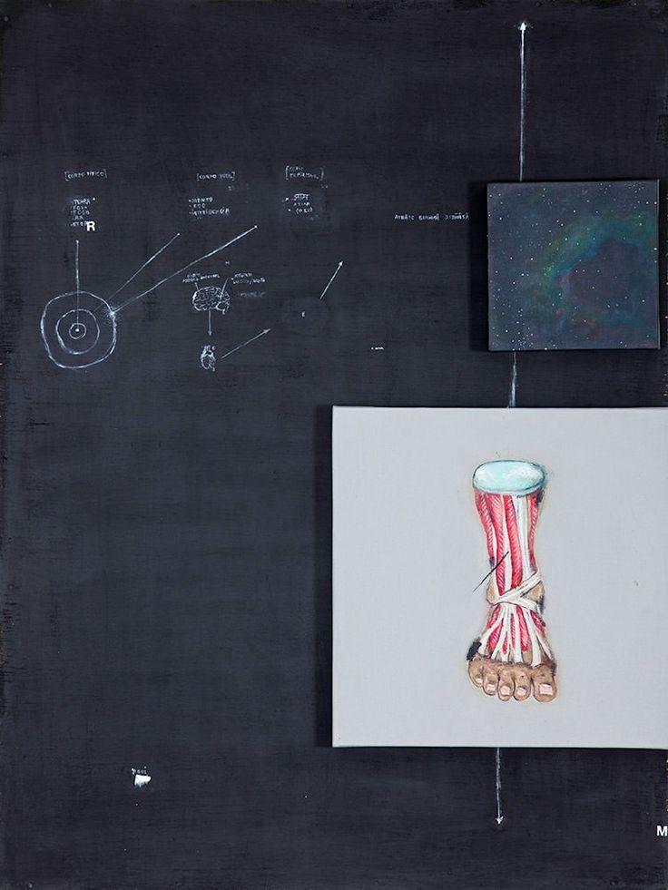Bruno Kurru Esquema 1 / territórios, 2012 Técnica mista sobre madeira 80 x 64 cm