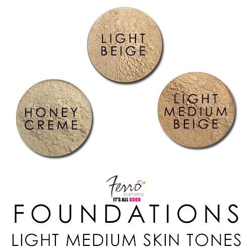 """Light Medium Skin Tones :) """"Honey"""" shades are a perfect match with Asian skin or Mediterranean skin. Our new Promo Size is Packaged in a 20 Gram jar with Reclosable Sifter."""
