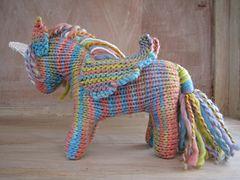 Ravelry: Rainbow the Pegasus Unicorn Pattern pattern by Linda Dawkins