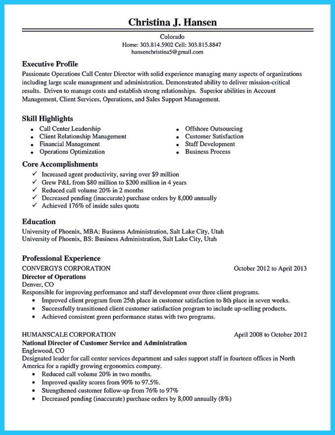 Pin By M Kane On Resume Ideas Call Center Good Objective For Resume Resume Template Free