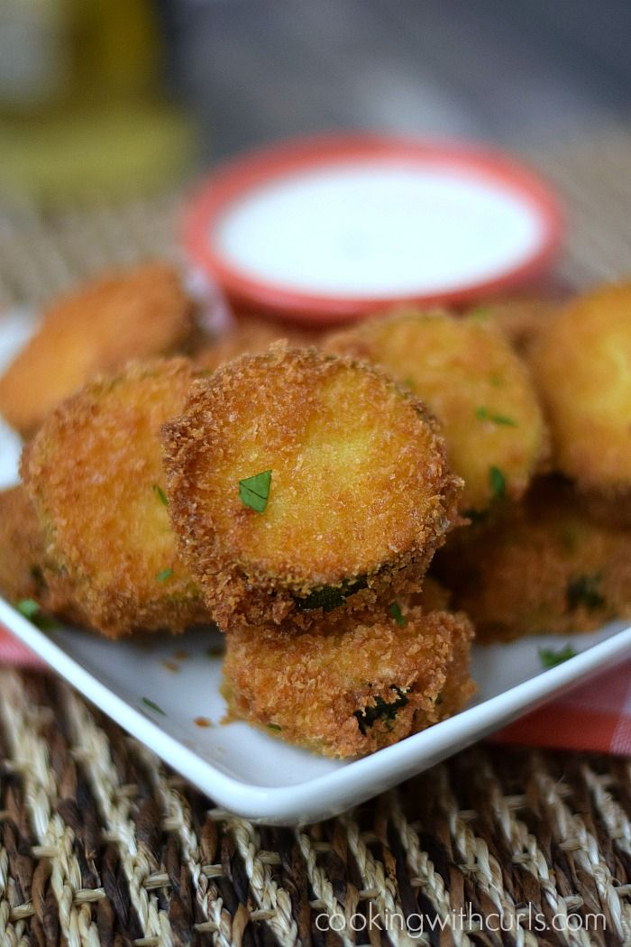 Fried Zucchini | cookingwithcurls.com
