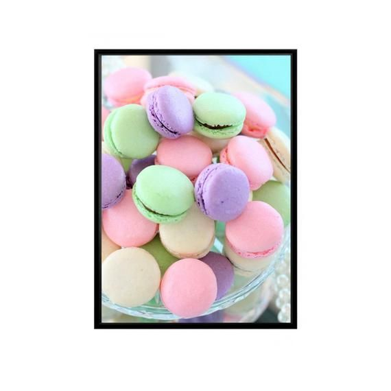 Hey I Found This Really Awesome Etsy Listing At Https Www Etsy Com Uk Listing 685606054 Macaron Print Macarons Typography Prints Pastel Print Cake Printing