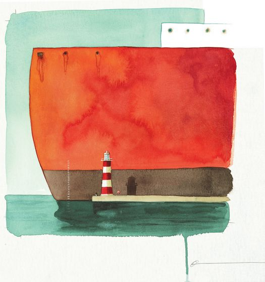 "Nautical illustration ""lost and found boat"", oliver jeffers - #nautical"