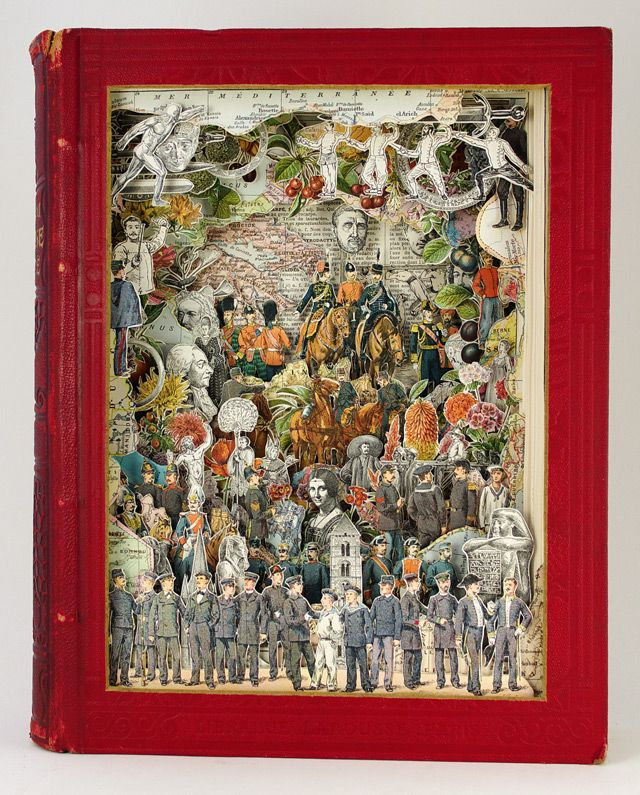 Sculptural Collages Made from Antiquarian Books by Alexander Korzer-Robinson