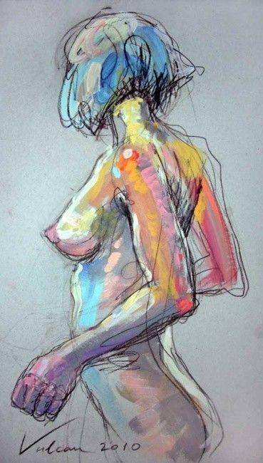 Marie 2 (Peinture) par Raluca Vulcan