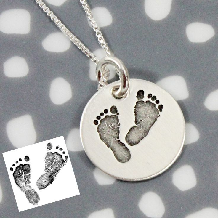 Actual Footprints Necklace - New Mom Gift, Stillbirth necklace, remembrance jewelry, memorial jewelry, mother's gift, push present, Tag...You're It