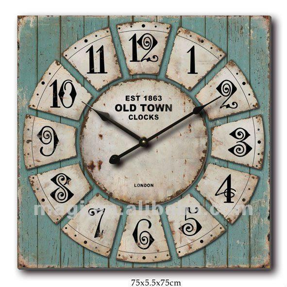 Vintage_Old_Shabby_Wooden_Unique_Wall_Clock.jpg 591×591 pixels