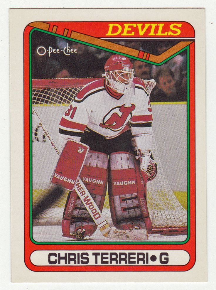 Chris Terreri RC # 375 - 1990-91 O-Pee-Chee Hockey NHL Rookie