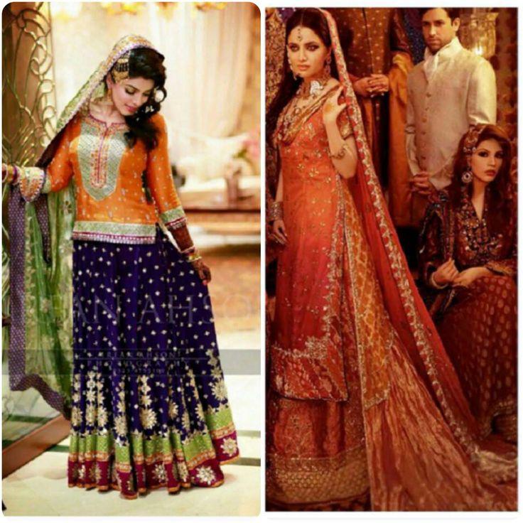 Asian Bridal Mehndi Dresses Designs For Girls 2016-2017