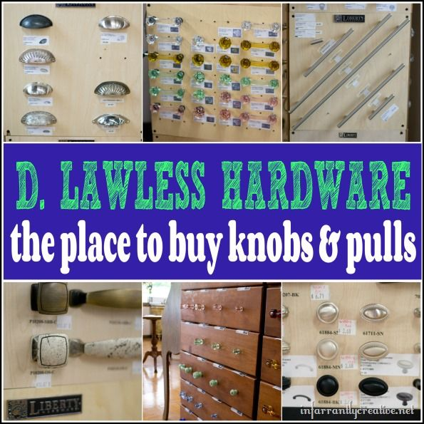 Hardware Supplier - knobs & pulls at excellent prices. This is a great resource if you work on furniture or if you're looking to update the hardware on your cabinets - via Infarrantly Creative