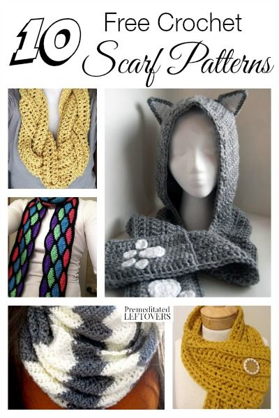 10 Free Crochet Scarf Patterns: The weather is changing and it's time to make cold-weather gear! Here are 10 free crochet scarf patterns to get you started!
