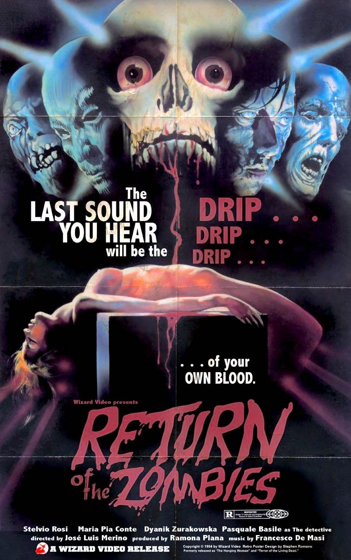 Return Of The Zombies 1973 Aka The Hanging Woman In 2020 Horror Movie Posters Horror Posters Horror Artwork