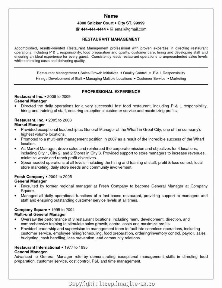 20 Server Job Description Resume (With images
