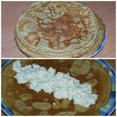 Hozzávalók:   175g zabliszt  75g tönköly fehér liszt  2,5dl tej  3,5dl (+1dl) víz  2 tojás  1 kk szódabikarbóna  1 tk olaj  1 tk xilit   Töl...