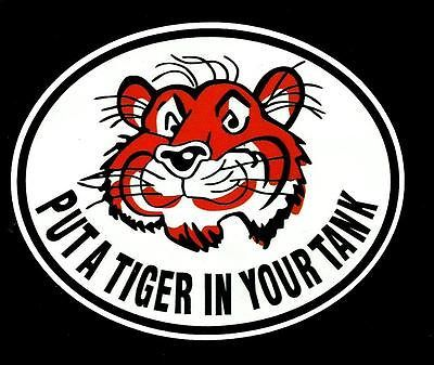 Esso Put A Tiger In Your Tank Promo Vinyl Sticker Decal