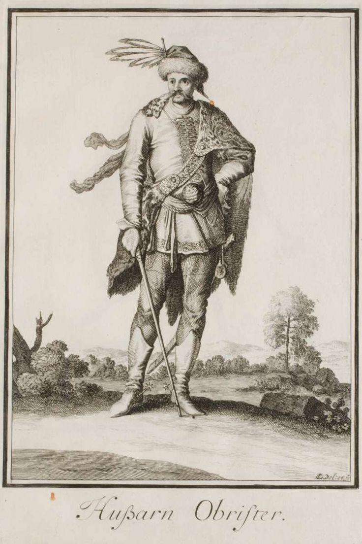 A Hungarian Hussar Colonel, by Caspar Luyken.