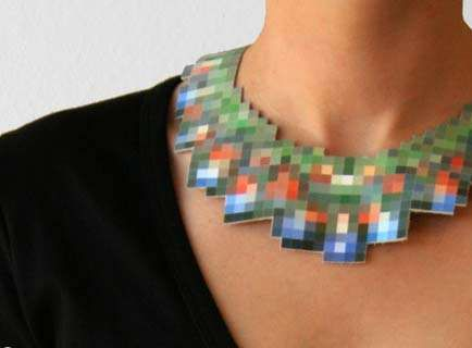 Pixelated Jewelry: Mike and Maaike Recreate Famous Jewels on Leather