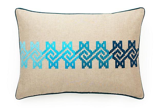 Maze PillowCotton Pillows, 14X20 Pillows, One King Lane, Maze 14X20, 14X20 Cotton, Onekingslane Com, Pillows Talk, Maze Pillows, Aqua