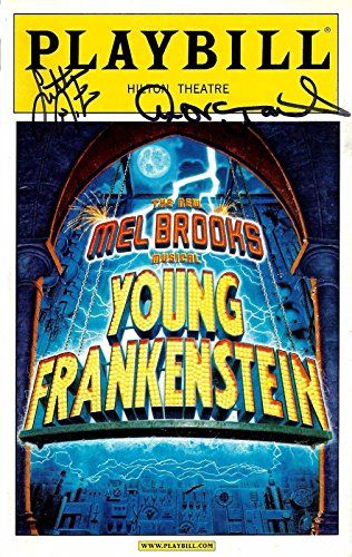 Sutton Foster (Signed) YOUNG FRANKENSTEIN Andrea Martin 2007 Broadway Playbill @ niftywarehouse.com #NiftyWarehouse #Geek #Horror #Creepy #Scary #Movies