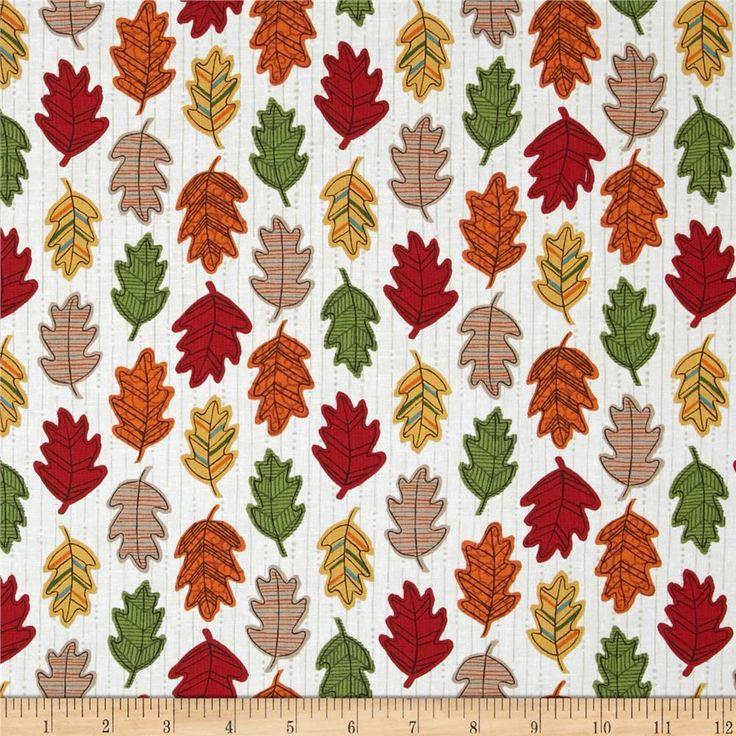 Moda Forest Fancy Falling Leaves Cream