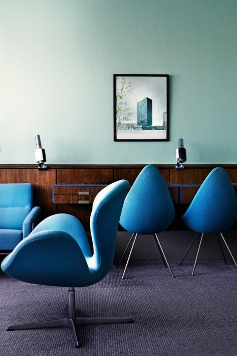 blue and green with wood, J. Ingerstedt - Interior photography