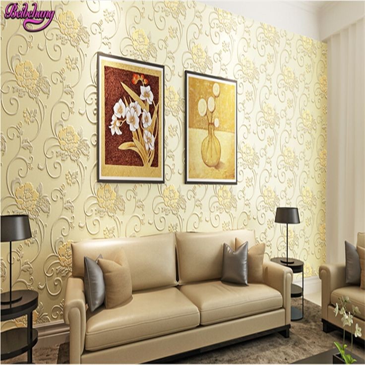 watch now beibehang nonwoven wall paper flocking warm pastoral bedroom