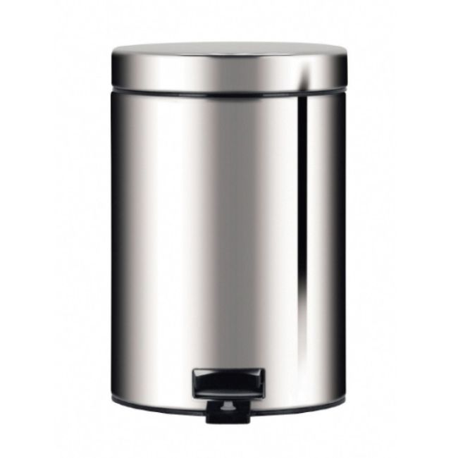 Brabantia Pedalhink 5 L Blankt stål | Drytrend.com Capacity 5 Litres Diameter 20.5 cm Height 28.8 cm Width 20.5 cm Depth 28.0 cm