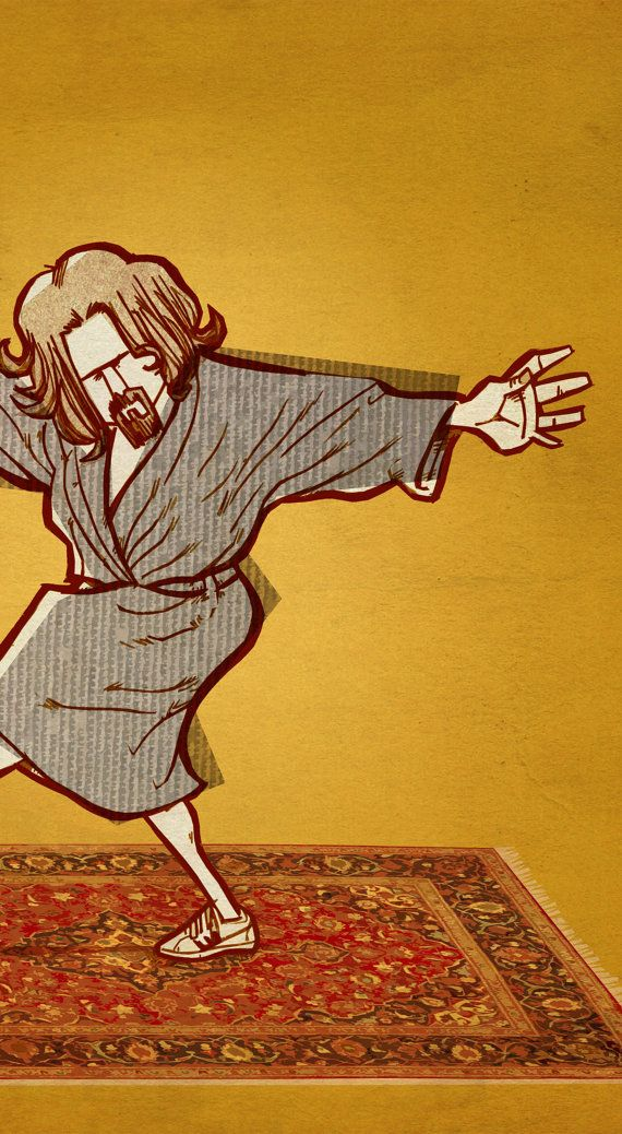 Movie Poster The Dude Big Lebowski Yoga A2 By SuPmon