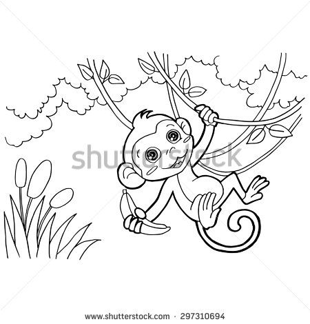 14 best Coloring pages - Coloring Book images on Pinterest - best of coloring pages with monkeys