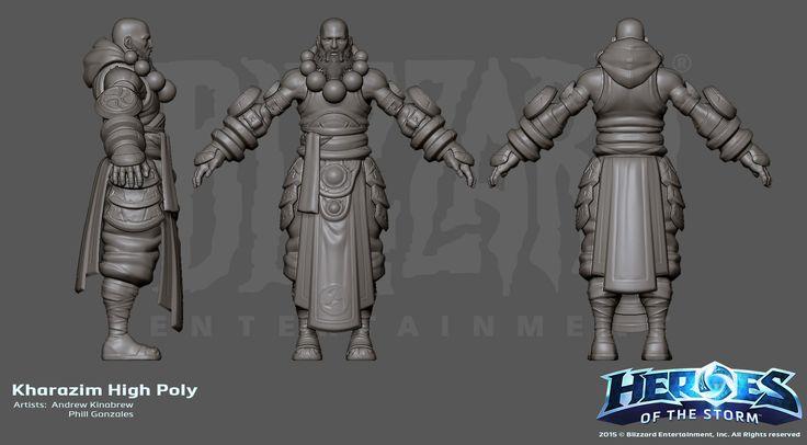 ArtStation - Heroes of the Storm Kharazim D3 Monk, Andrew Kinabrew