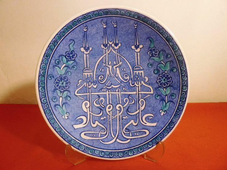 Kütahya el boyaması duvar tabağı Çapı:17,5cm. I Antika porselen, seramik objeler I Kütahya I Aida Antik - Osmanlı ve Avrupa sanat eserleri  ...