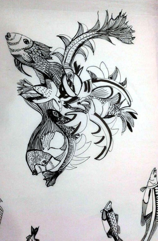 Study for textile print