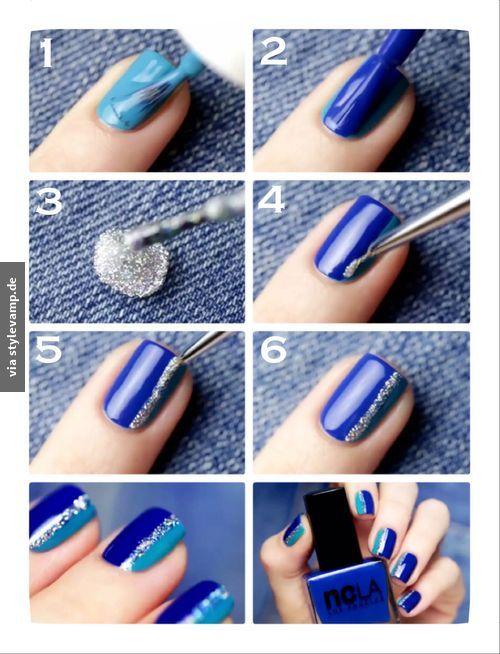 Blaues Nagelwunder <3