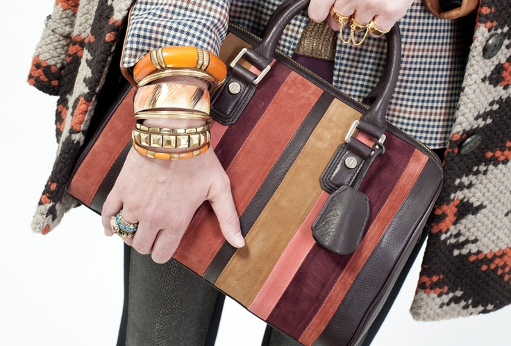 Purse, gold ring & faux leather leggings - BCBG; stacked ring - Suzy Shier; accessories - Aldo Accessories and The Bay