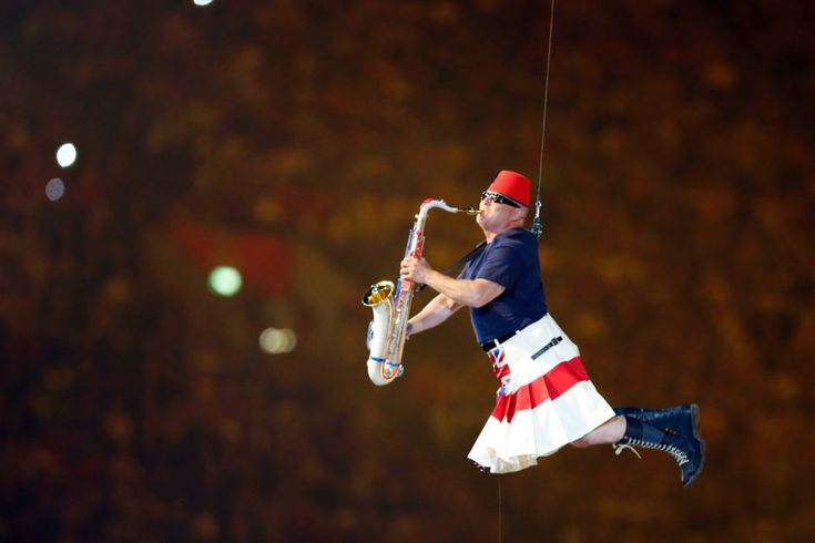 Saxophonist Lee Thompson from Madness at The London 2012 Olympic Games Closing Ceremony