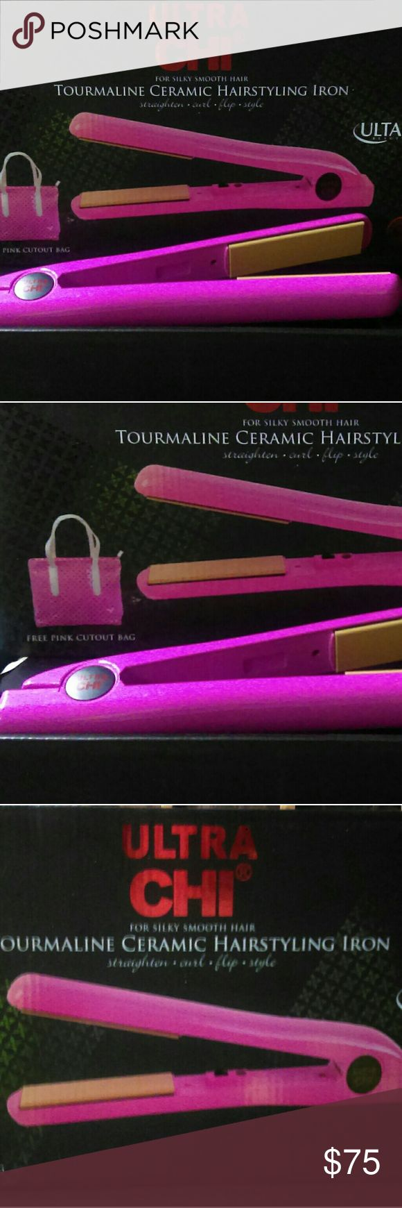Authentic Ultra Chi New in box pretty pink ultra Chi hair straightener chi Accessories Hair Accessories