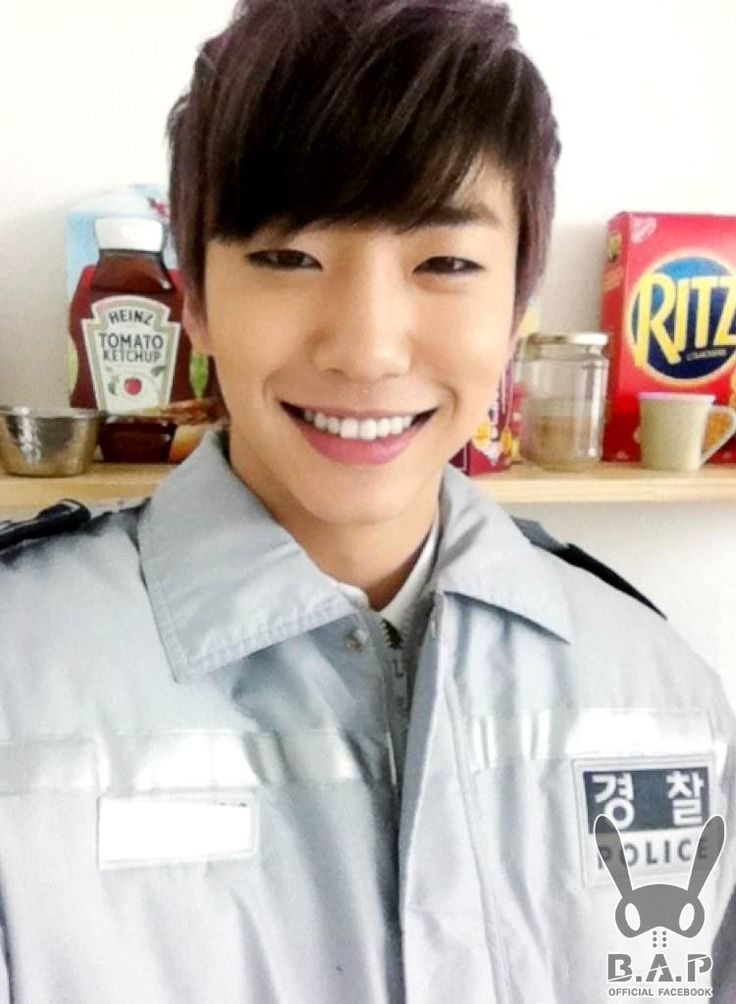 B.A.P Bang Yong Guk  ooohhh that looks yummy...that box of Ritz i mean ;D