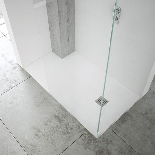 Nice Pure White Coloured Extra Flat Custom Made Shower Tray Means You Can  Install A Shower In Any Space.